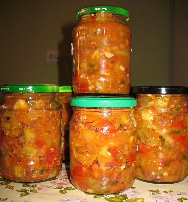 Салаты на зиму из баклажан с кабачками рецепты с