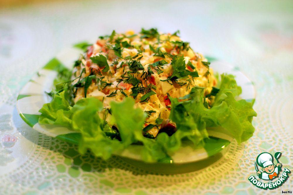 Салат с крабового мяса с картофелем