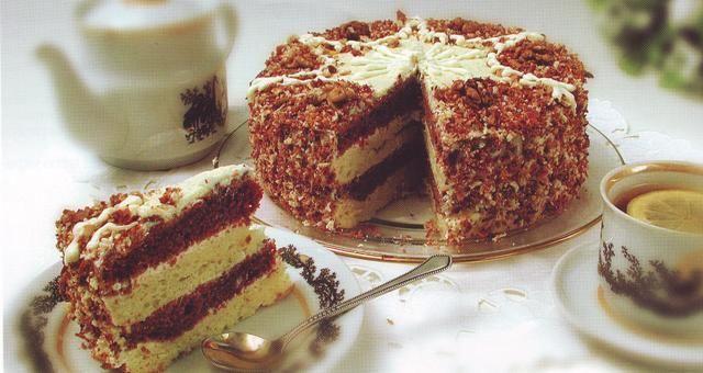 Торт из сметаны сгущенки и какао
