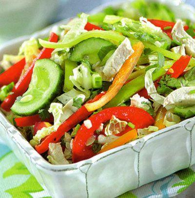 Салаты домашние из овощей