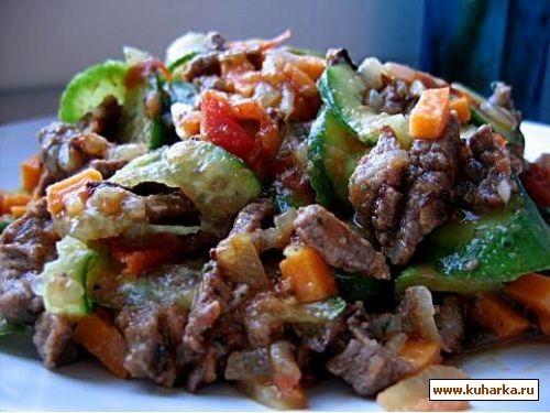 Мясные салаты из говядины рецепты с простые и вкусные