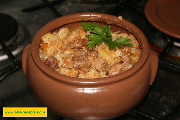 Рецепты свинины в горшочках с картошкой