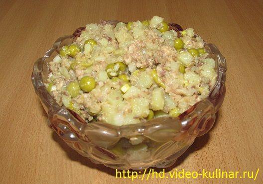 Салат с консервами рецепт очень вкусный