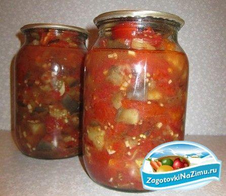Салаты на зиму из помидор и баклажанов
