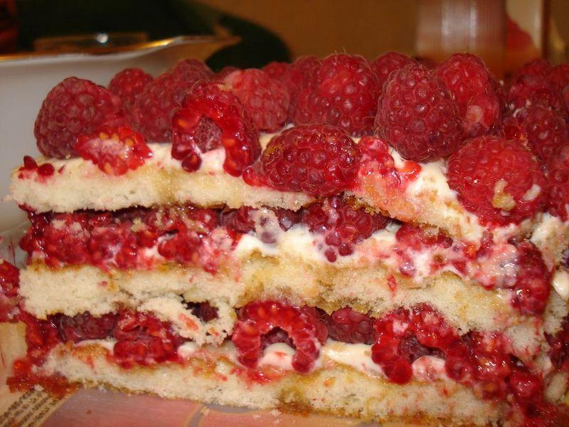 Рецепты тортов малина