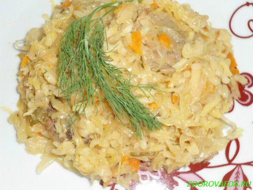 Рис с капустой с мясом рецепт пошагово