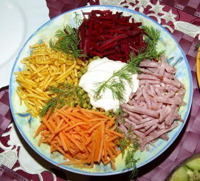 Салат радуга рецепт с фото пошагово