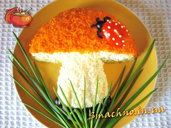 Салат грибок рецепт с пошагово
