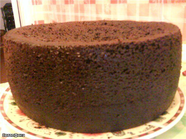 Шоколадный корж для торта с фото пошагово