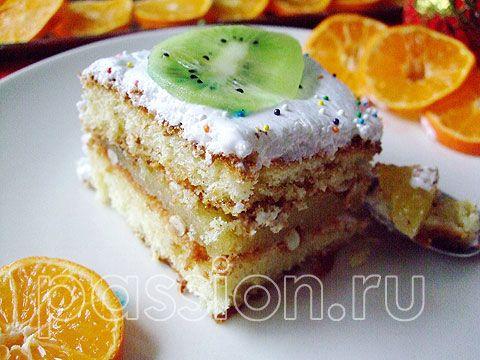 бисквитное пирожное с белковым кремом рецепт фото