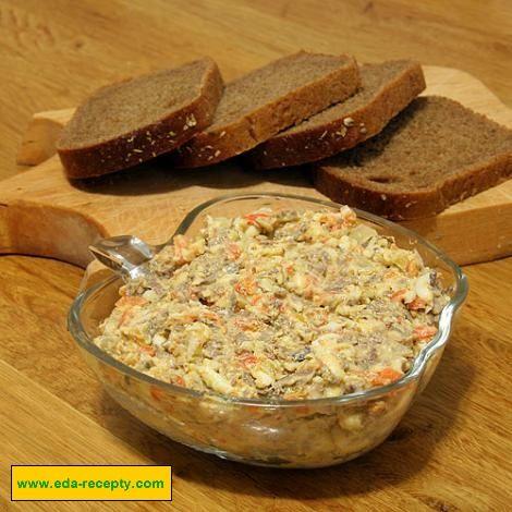 Рецепт салата из свиной печени