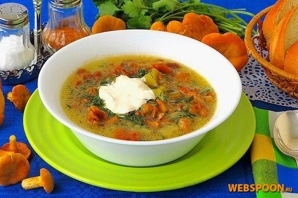 Суп из лисичек фото