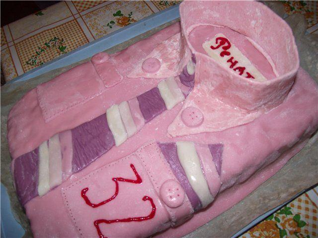 Торт украшенный мастикой мужу