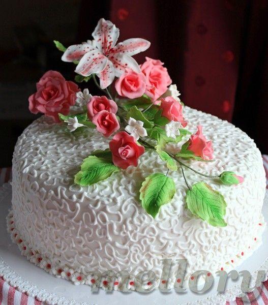 Как украсить торт в домашних условиях пошагово на юбилей