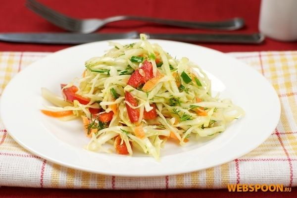 Салат из болгарского перца и капусты рецепт