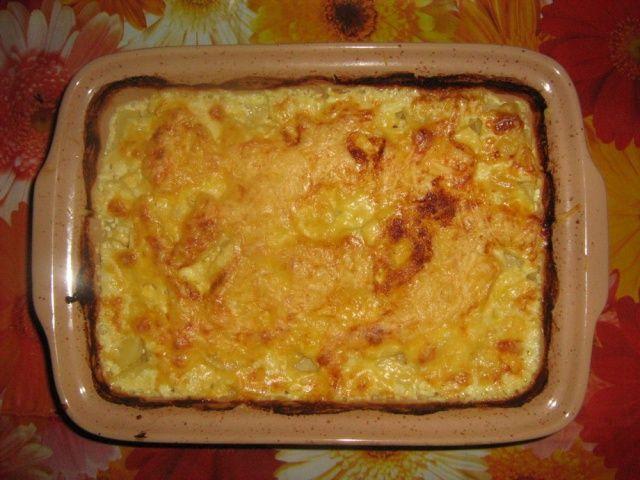 Запеканка с картофелем и курицей в духовке с фото пошагово