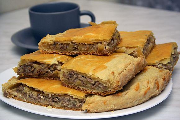 Пироги с мясом из теста рецепты с