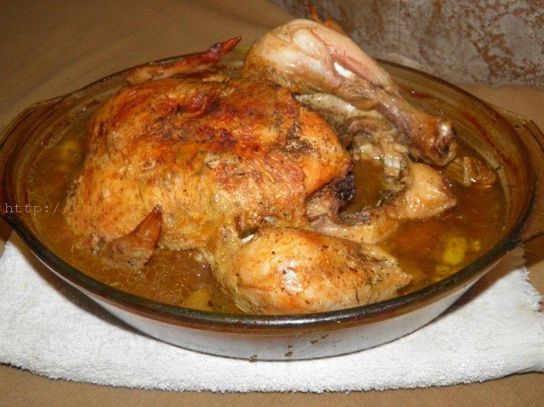 Как приготовить курицу в духовке по французски