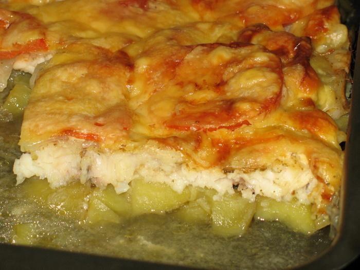 как запечь филе рыбы с картошкой в духовке