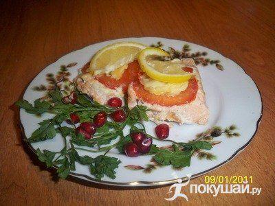 Горбуша запеченная в фольге с лимоном в духовке рецепт с пошагово