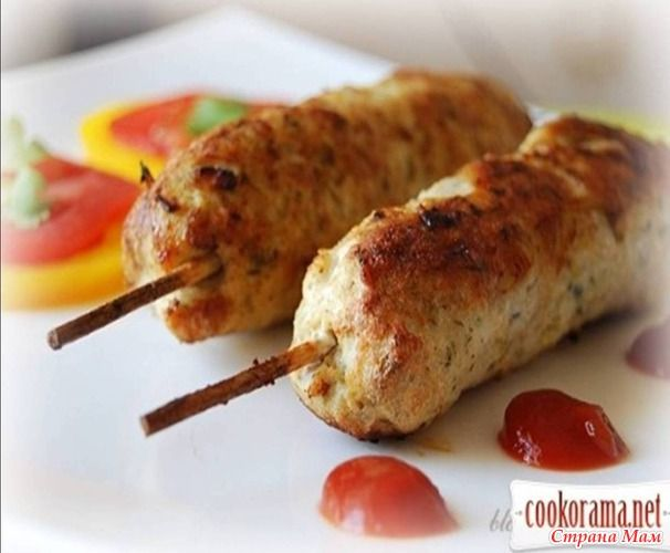 Люля-кебаб куриный в духовке рецепт с пошагово в