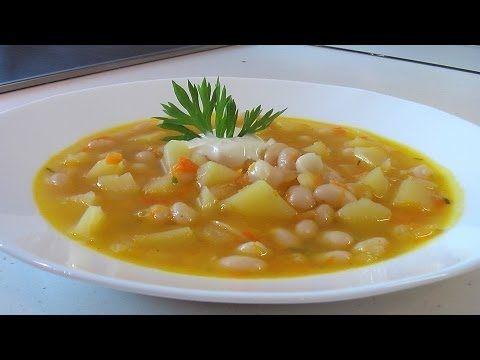 суп с белой фасолью видео