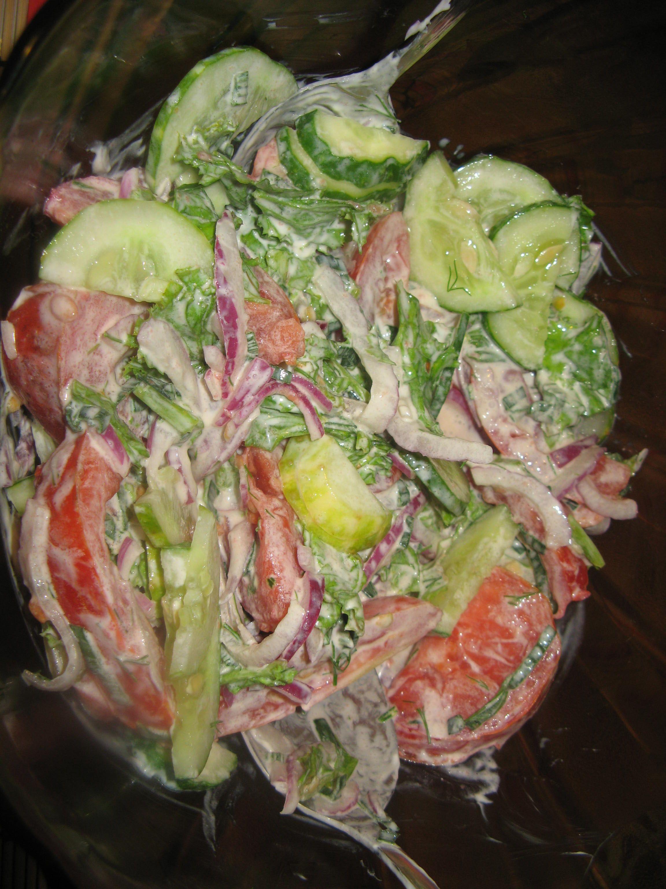 Порея лук салат