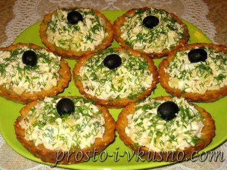 Салат для тарталеток рецепты фото