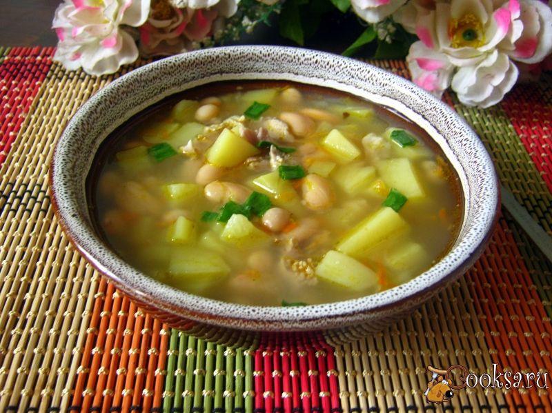 Суп с консервированной белой фасолью рецепт пошагово