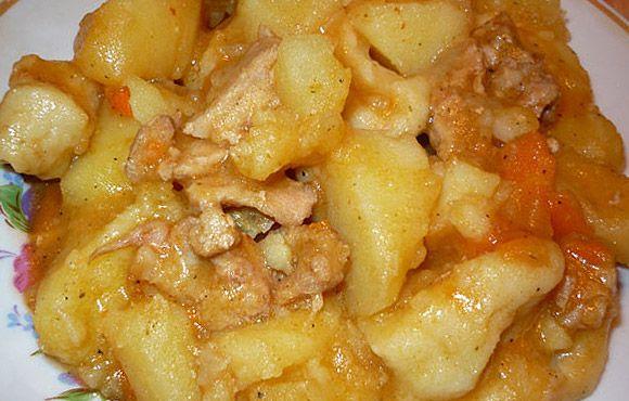 Картошка в мультиварке рецепты с фото со свининой
