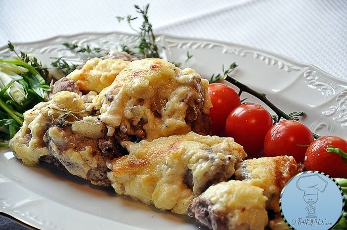 Мясо по французски с картошкой фото из говядины