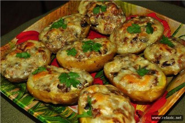 Фаршированная картошка с фаршем в духовке рецепты