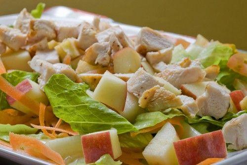 Салаты с курицей рецепты с простые и вкусные с яблоками